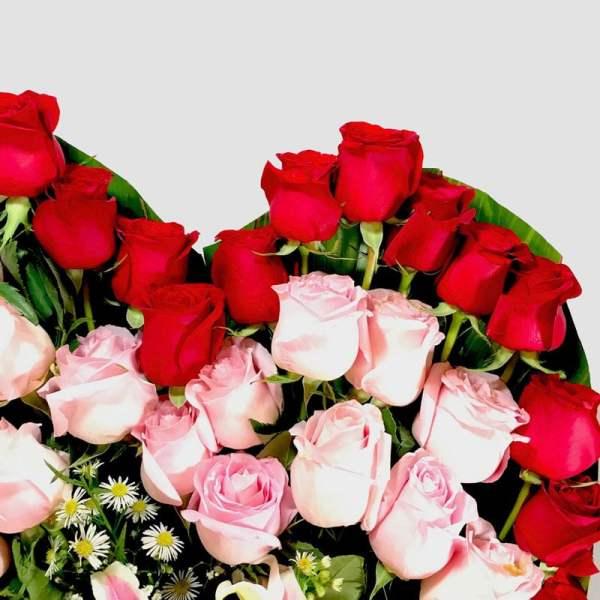Cariño mío. Corazón de rosas rojas - Florerías en Tijuana, Arreglos Florales Tijuana