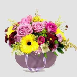 Bolsa de madera. Arreglos florales Tijuana - Florerías en Tijuana