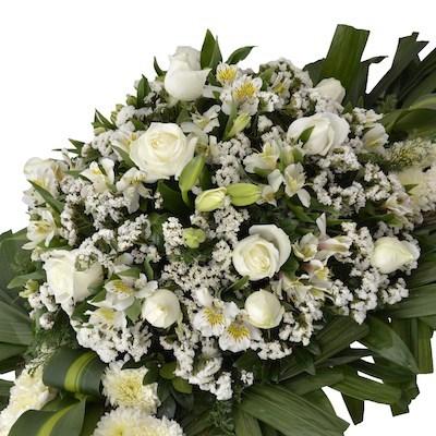 corona de flores dobleces