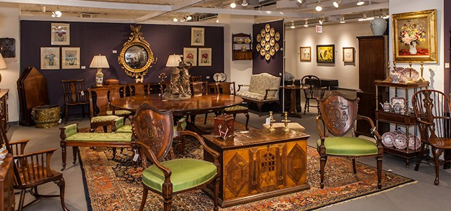 Antiques on display at The Mart
