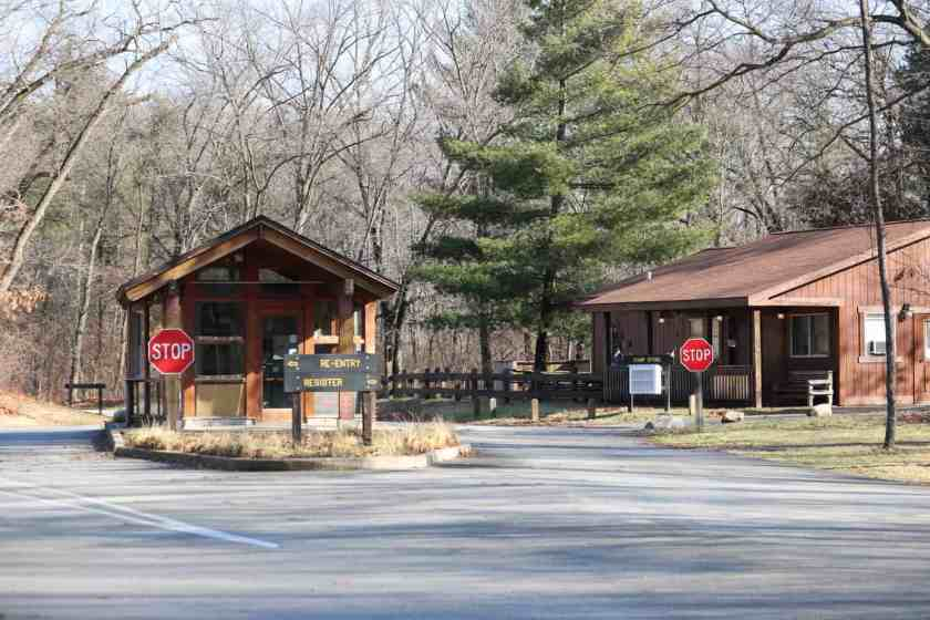 Entrance to Indiana Dunes Campground