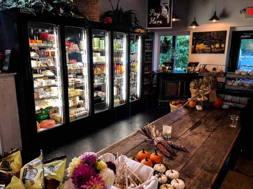Deli refrigerator with an assortment of meats and cheeses