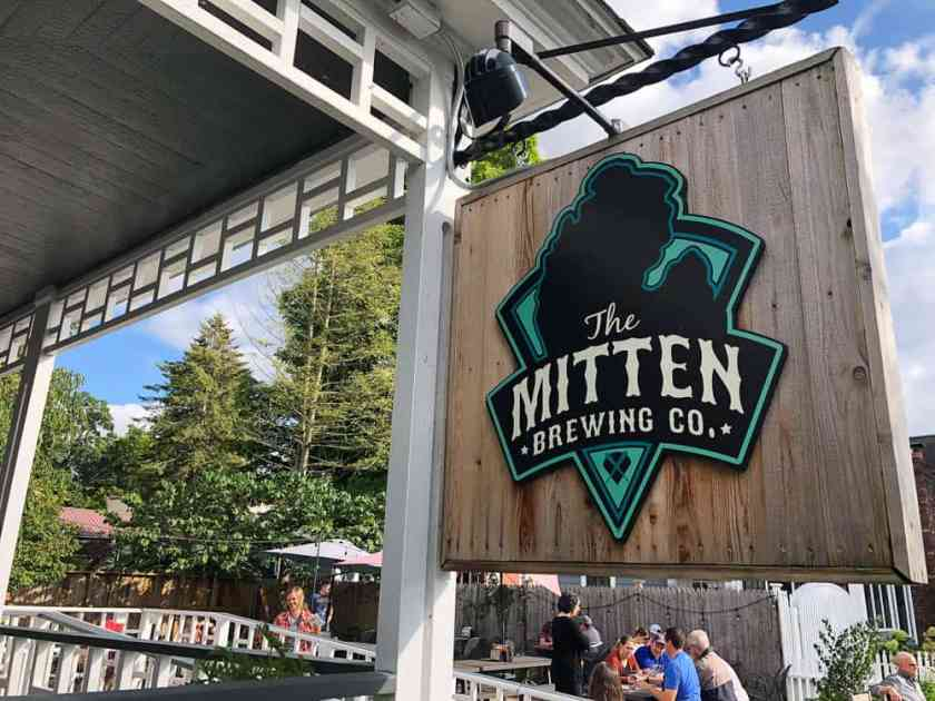 Mitten Brewing Company Sign