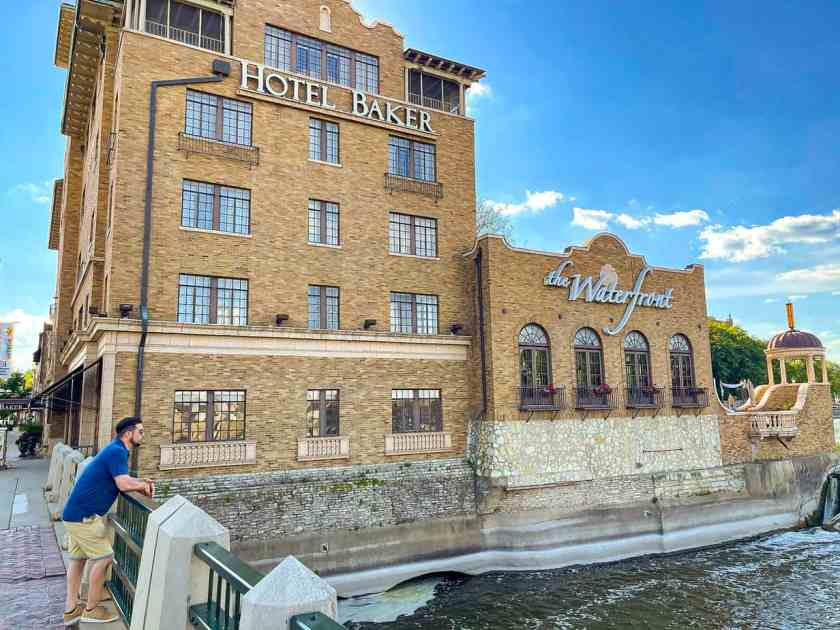 Hotel Baker in downtown St. Charles, Illinois