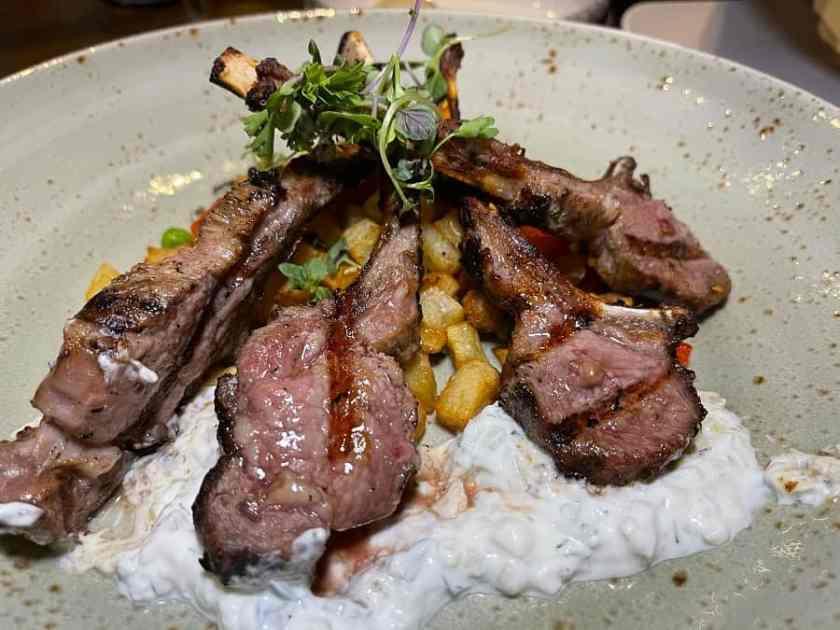 Lamb Chops at Eden Restaurant