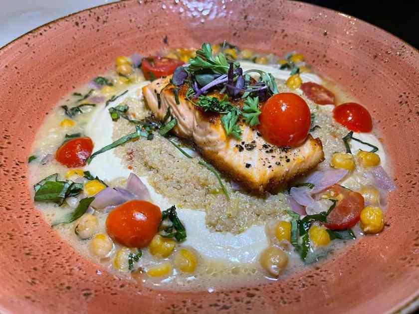 Salmon dish at Eden Restaurant