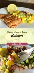 Salmon with Mango, Jalapeno, Grape Salsa