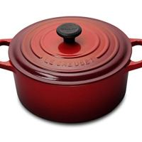 Amazon.com: Le Creuset Signature Enameled Cast-Iron 5-1/2-Quart Round French (Dutch) Oven, Cerise (Cherry Red): Dutch Ovens: Kitchen & Dining