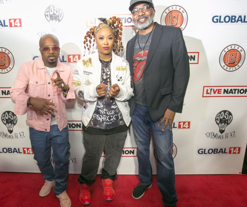Jermaine Dupri_ Da Brat_Michael Mauldin_ Miss Mulatto_ 03.22.17 SoSo Summer 17 Tour Press conference Top Golf Atlanta 006 135th ST Agency photo by Chris Mitch-CME3000