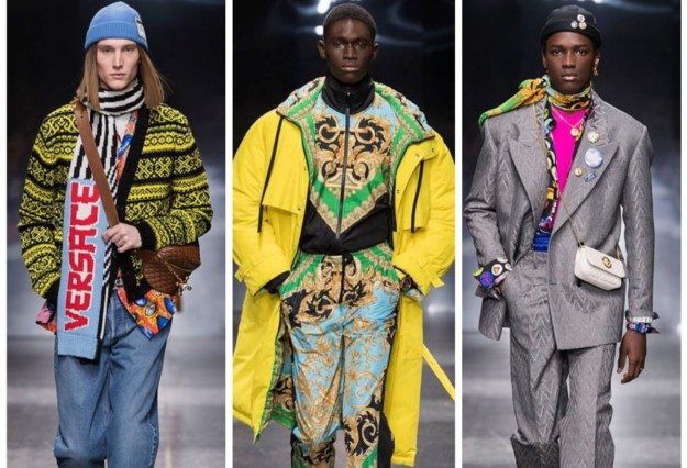 Versace Displays Fall 2019 Menswear Collection at Milan Fashion Week