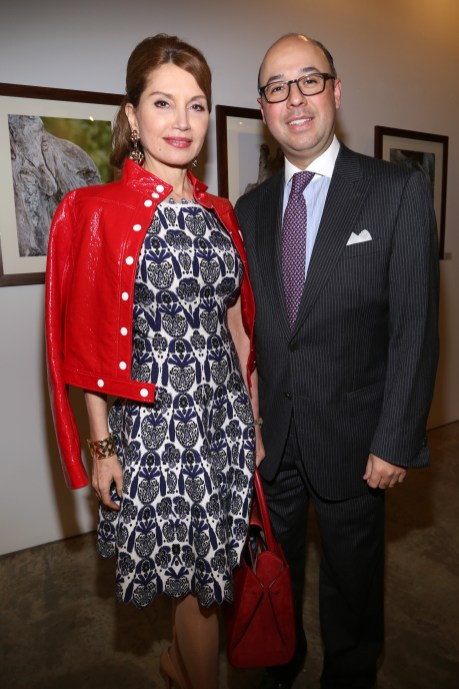 NEW YORK, NY - JANUARY 24: Jean Shafiroff and Victor Martinez attend Cocktails To Benefit Global Strays And A Private Showing Of Modern Images Of The Natural World at Novo Locale on January 24, 2019 in New York. (Photo by Sylvain Gaboury/PMC) *** Local Caption *** Jean Shafiroff;Victor Martinez
