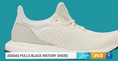 Adiddas All White Black History Sneaker