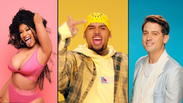 "Chris Brown drops video for ""Wobble Up"" feat. Nicki Minaj & G-Eazy"