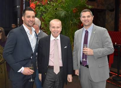 Dustin Dimpflmaier (left) SWCRF Executive Director, William T. Sullivan (center) andguest from the NYPD