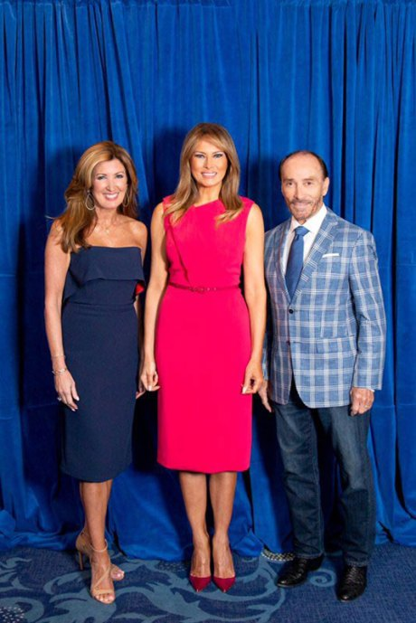Kim Greenwood, Mrs. Melania Trump, Lee GreenwoodPhoto by: Marion Meakem Photography