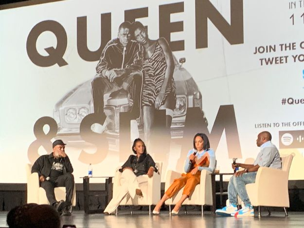 """Queen and Slim's"" director Melina Matsoukas discusses the Soundtrack at the Spotify x Motown movie Premiere in Atlanta"