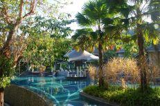 Morning light over the main pool at Mandarava