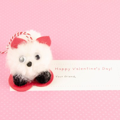 POMPOM PET VALENTINES | DIY | KIDS CRAFT