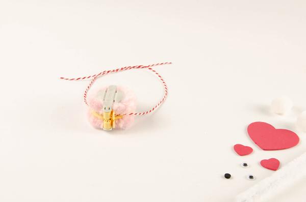 Pompom Pet Valentines Step 3