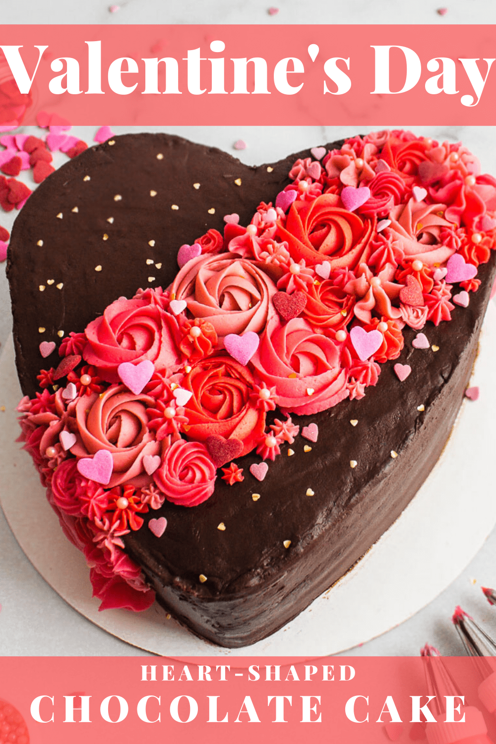 Send online cake in all shape and design. Valentine S Day Chocolate Cake Tutorial Flour Floral