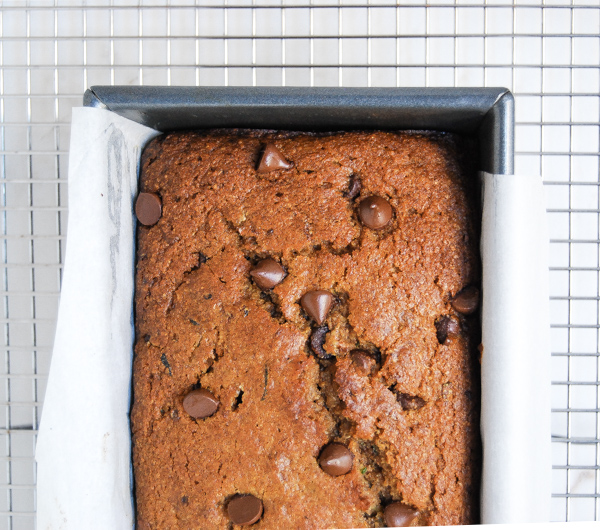 Whole Wheat Chocolate Chip Zucchini Bread - Flour Covered Apron