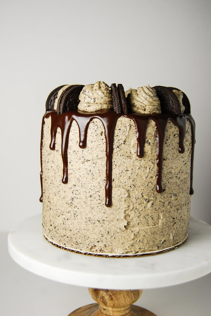 Peanut Butter Oreo Cake with Peanut Butter Chocolate Ganache Drip