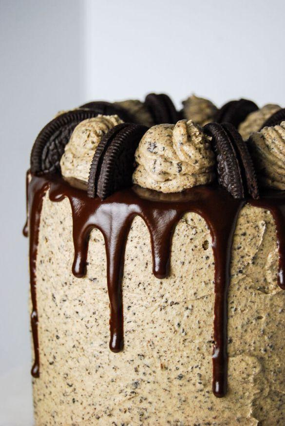 Peanut Butter Oreo Cake - Flour Covered Apron