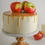 Walnut apple cake with maple buttercream and maple caramel - Flour Covered Apron