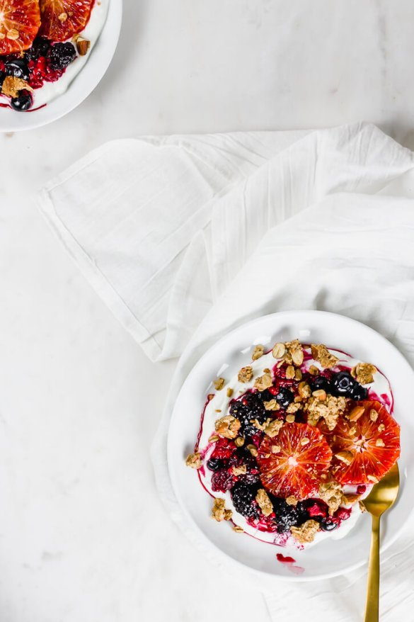 Blood Orange and Greek Yogurt Breakfast Bowls - Flour Covered Apron