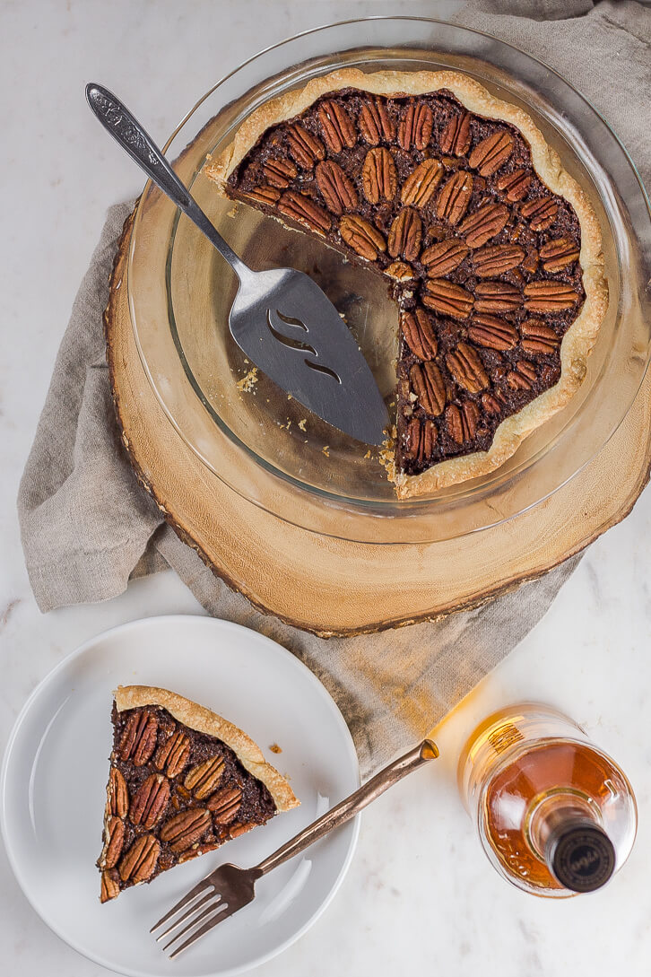 Chocolate Pecan Pie with Rum - Flour Covered Apron