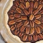 Chocolate Pecan Pie with Rum - Flour Covered Apron