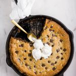 Nutella Stuffed Skillet Cookie - Flour Covered Apron