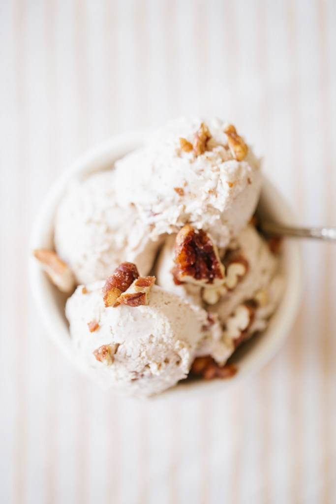 Maple Butter Pecan Ice Cream by Colorful Eats