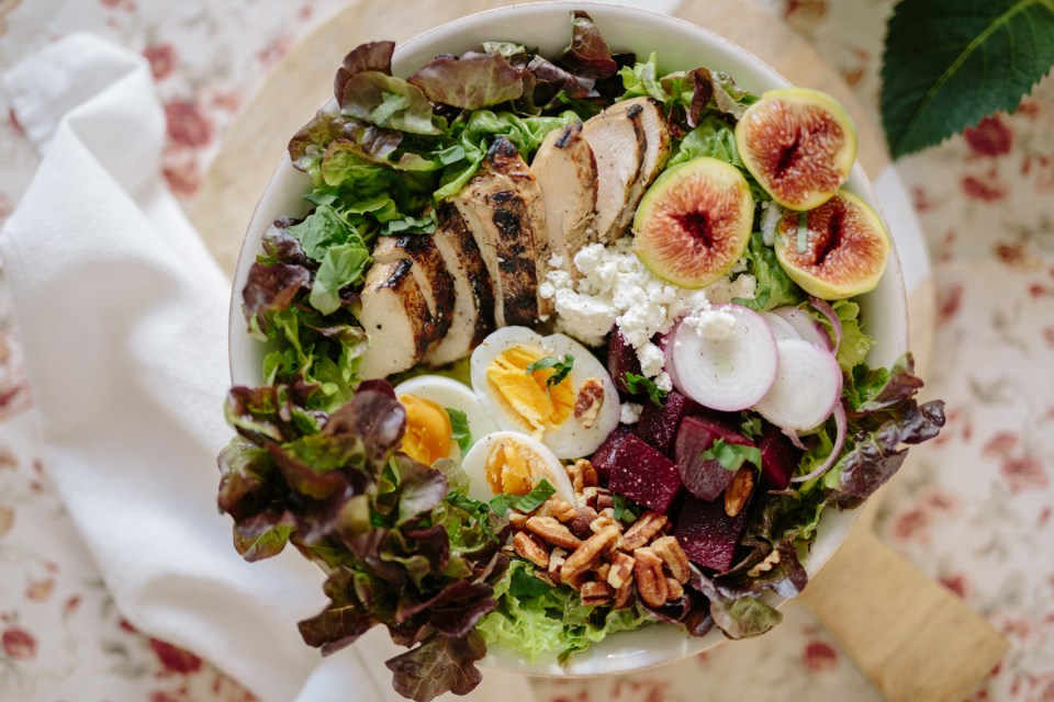 Harvest Cobb Chicken Salad with Beets and Figs