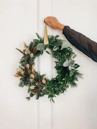 Bristol wedding florist Flourish and Grace christmas wreath workshop bath