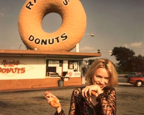 girl eating donuts