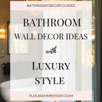 Beautiful Bathroom Wall Decor Ideas With Luxury Style 2020