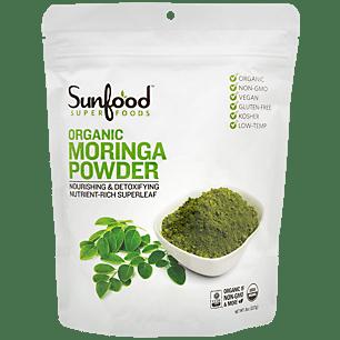 Raw Organic Moringa Powder - Nourishing & Detoxifying Nutrient-Rich Super Leaf (56 Servings)