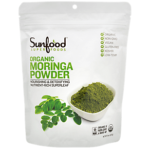 Raw Organic Moringa Powder - Nourishing & Detoxifying Nutrient-Rich Super Leaf (56 Servings)