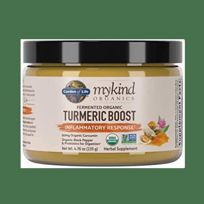 garden of life turmeric boost powder bottle