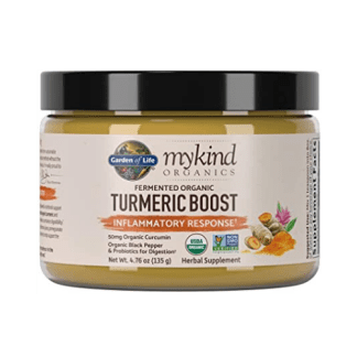 garden of life turmeric boost powder bottle
