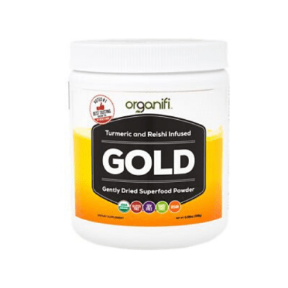 organifi gold superfood powder cannister