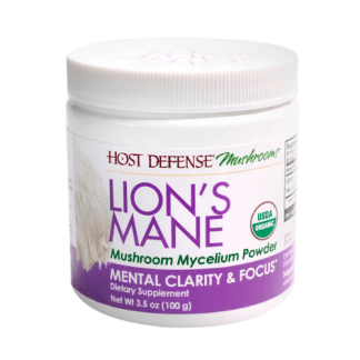 host defense organic lions mane powder cannister