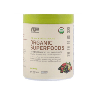 musclepharm organic raw superfoods blend cannister