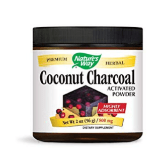 natures way activated coconut charcoal powder cannister