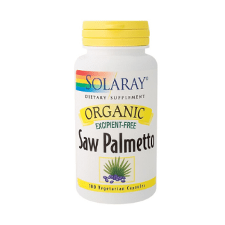 solaray organic saw palmetto capsules bottle