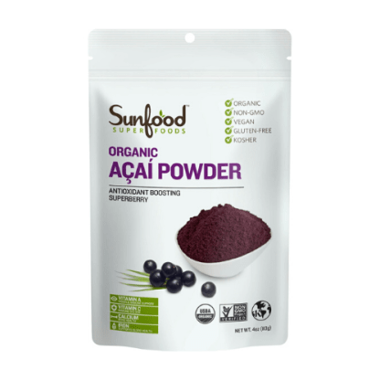 sunfood organic acai powder pouch