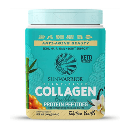 sunwarrior plant based collagen cannister