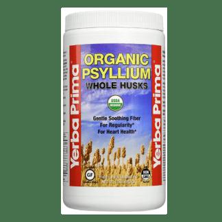 yerba prima organic psyllium husks container