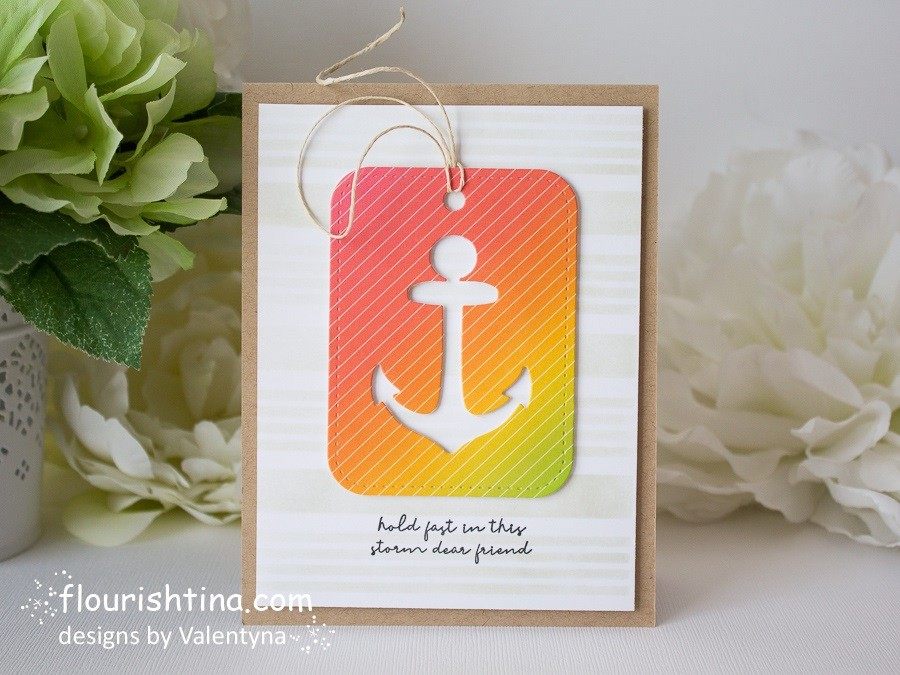 Nautical Ombre Card
